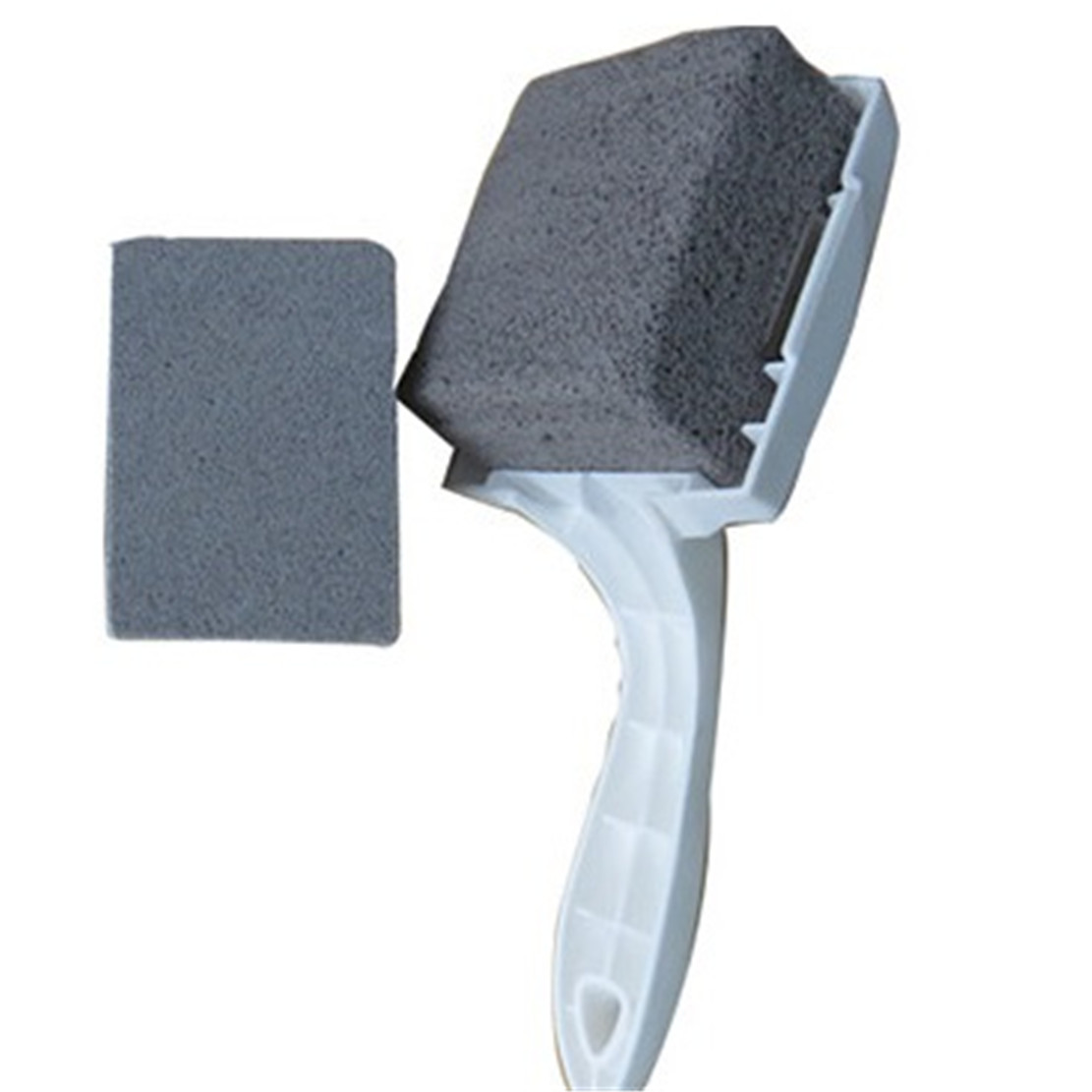 GrillStone Grill Cleaner with handle and cleaning stone